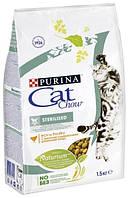 Cat Chow Sterilized корм для стерилизованных кошек с курицей, 1.5 кг