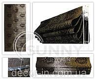 Римская штора из жаккардовых тканей Woda, Ikea,Lazur,Topaz, Deli