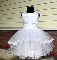 Детское нарядное выпускное платье с бантом