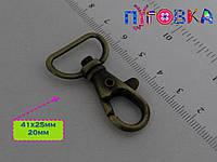 Карабин 057 20mm никель антик золото черный антик