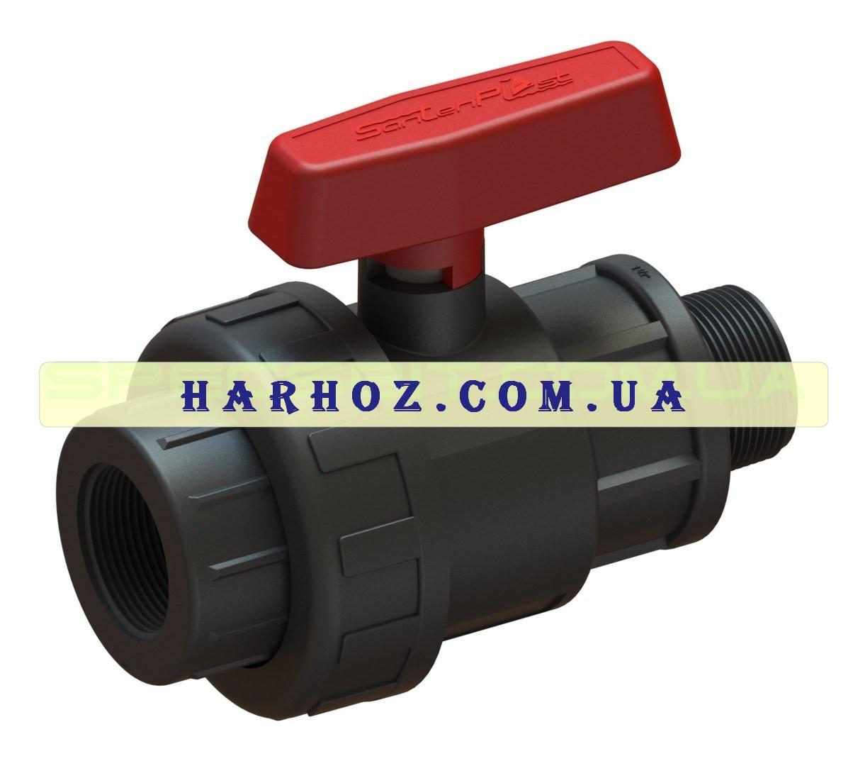 Кран шаровый ВН 25x3/4 Santehplast (Сантехпласт) компрессионный