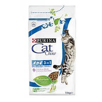 Cat Chow 3 in 1 корм для кошек с индейкой, 15 кг