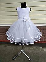 Детское нарядное выпускное платье с цветком (невеста)