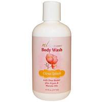 Средство для мытья тела, Цитрусовый всплеск, очищает с помощью арганового и марулового масел + масло ши