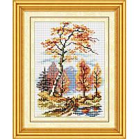 Осенний пейзаж. Dream Art. Набор алмазной живописи (квадратные, полная) (F0503)