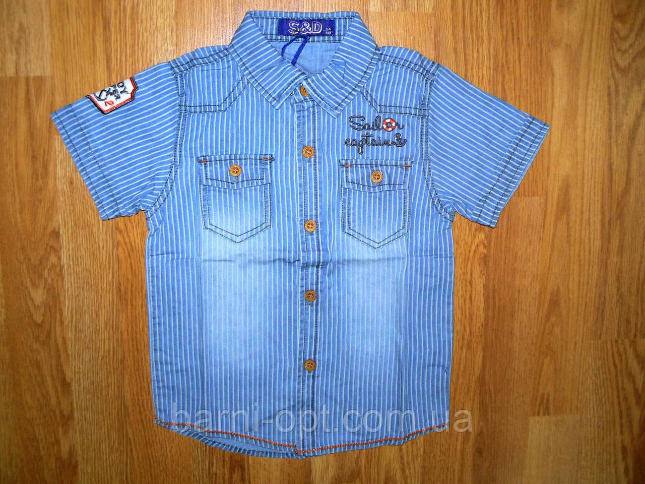 Джинсові сорочки на хлопчика оптом, S&D, 1-5 рр