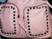 Женская сумка - рюкзак из эко кожи (6 цветов) РОЗОВЫЙ