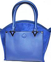 Женские элитные сумки Премиум класса (СИНИЙ-НАТУРАЛЬНАЯ ЗАМША)