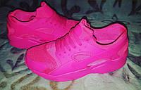 Кроссовки розовые неон копия бренда