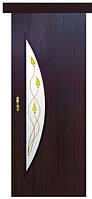 Раздвижная дверь МОДЕРН ЛУНА Р1  экошпон. венге 3D, дуб жемчужный, кедр, ясень патина, сандал.