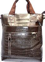 Барсетка - сумка большая (каштан\крокодил)