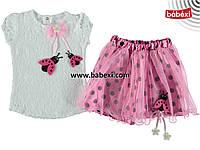 Костюм для девочки на   6, 12, 18  месяцев. Детская одежда оптом из Турции. Доставка 5-7 дней!
