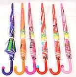 Зонты - трости детские 3D + СВИСТОК (6 цветов), фото 3