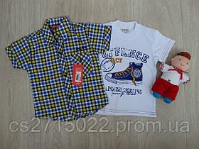 Набор рубашка+футболка для мальчика р.3-4 года