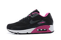 Кроссовки Nike Air Max 90 Black Pink Черные женские