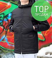 Парка мужская черная, весна / осень 2017 / куртка мужская весна