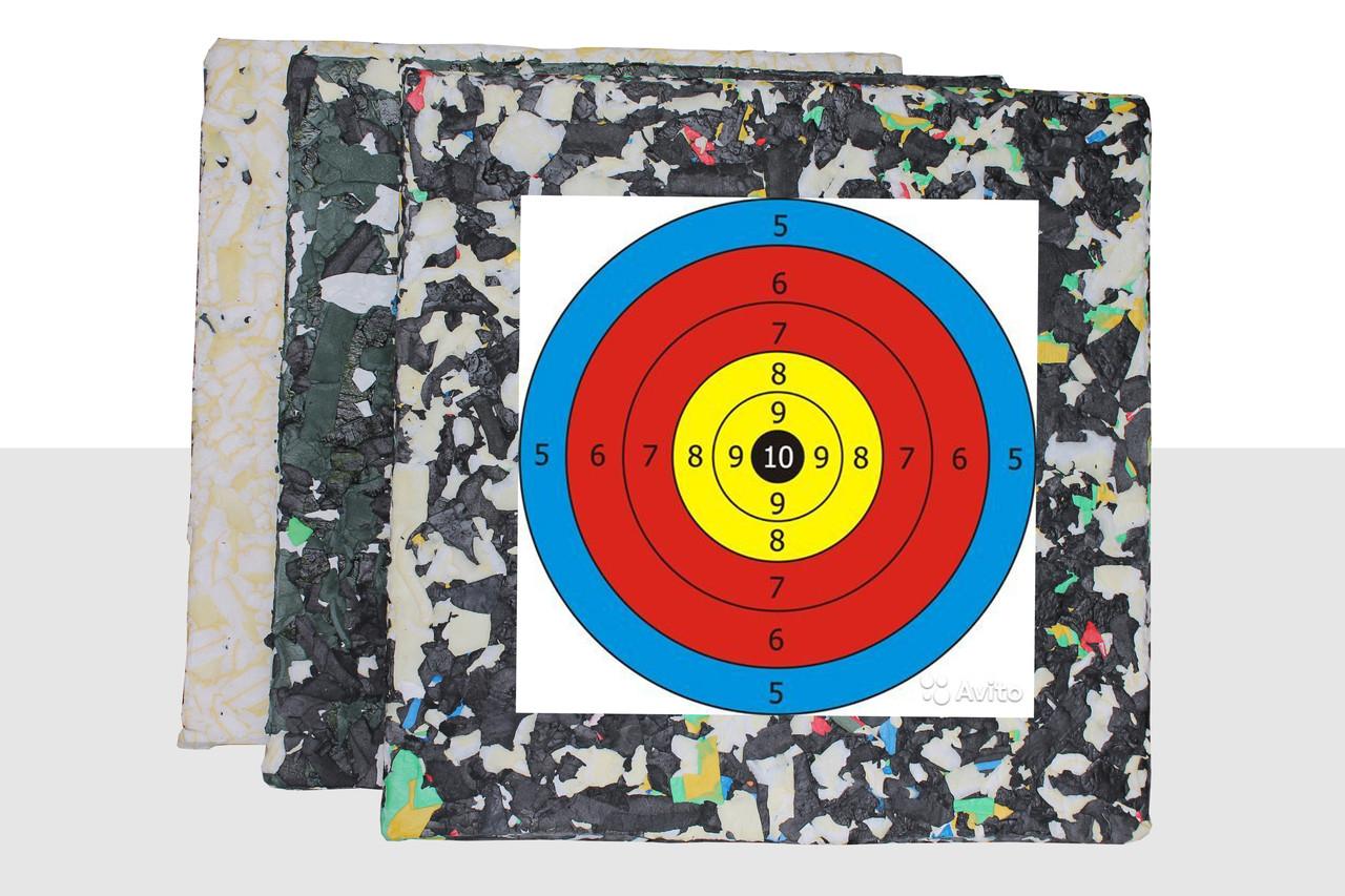 Щит - Мишень для стрельбы из лука, арбалета. Изолон-блок 100мм.