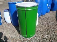 Бочка 220 литров металлическая со съемной крышкой и хомутом конусная б/у (пищевая)