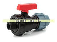 Кран шаровый ЗН 25x3/4 Santehplast (Сантехпласт) компрессионный, фото 1
