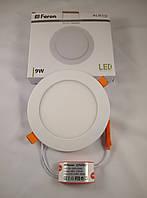 Встраиваемый светодиодный светильник Feron AL510 9w 4000К