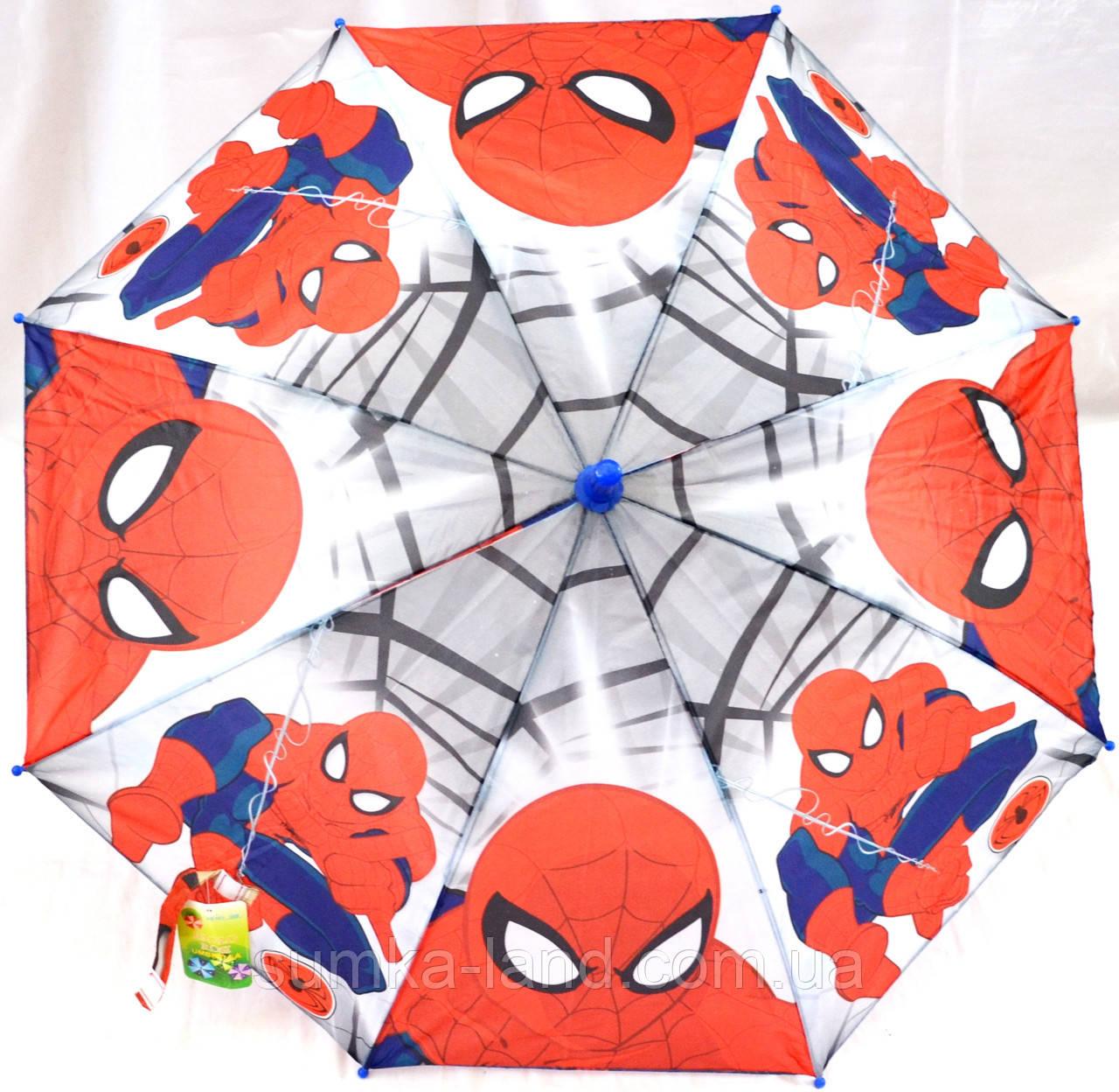 Зонты - трости детские ЧЕЛОВЕК ПАУК (2 цвета)