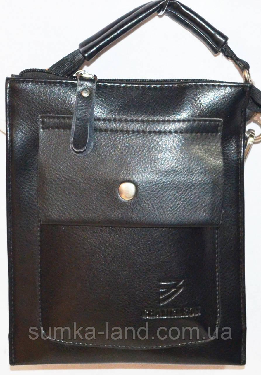 Кожаные мужские барсетки и сумки (ЧЕРНЫЙ)