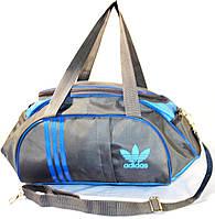Спортивная сумка Adidas (серая с голубым), фото 1