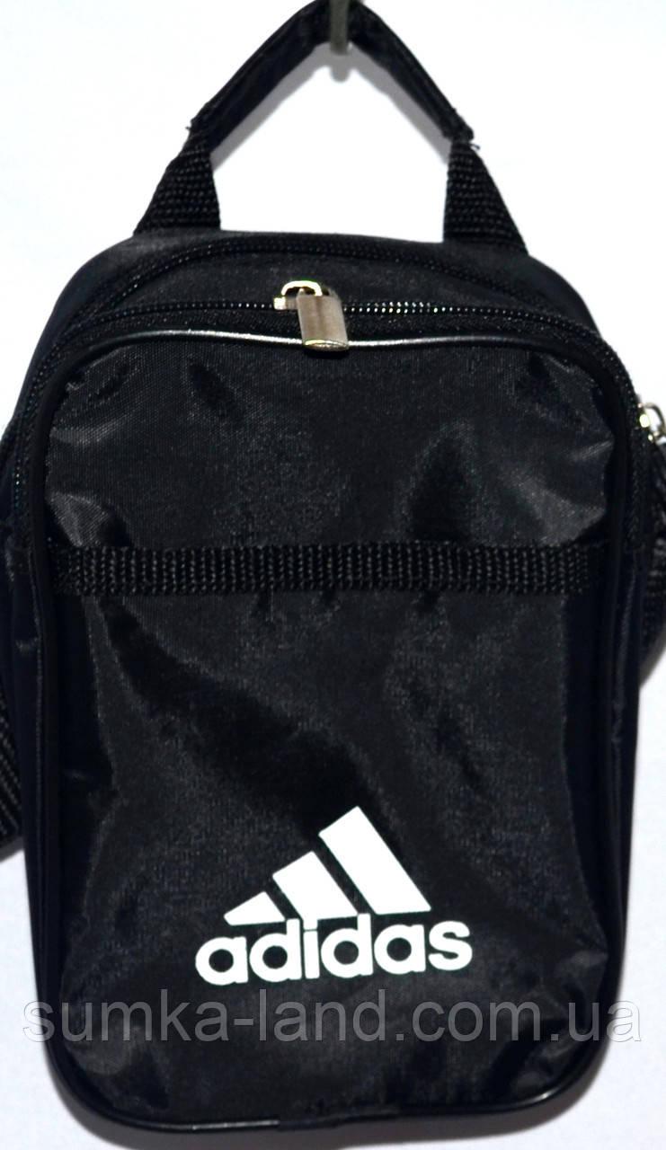 Барсетки мужские на плечо Adidas маленькая 17х15 (ЧЕРНЫЙ)