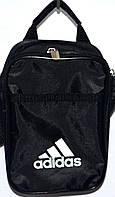 Барсетки мужские на плечо Adidas маленькая 17х15 (ЧЕРНЫЙ), фото 1