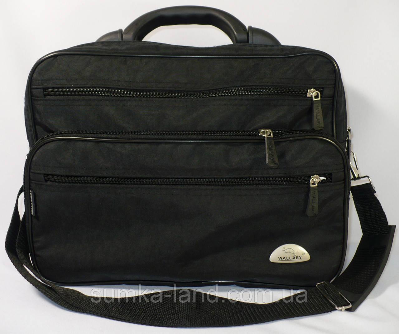72c8be5b0b64 Мужская каркасная сумка Wallaby с пластиковой ручкой в черном цвете -  SUMKA-LAND в Харькове
