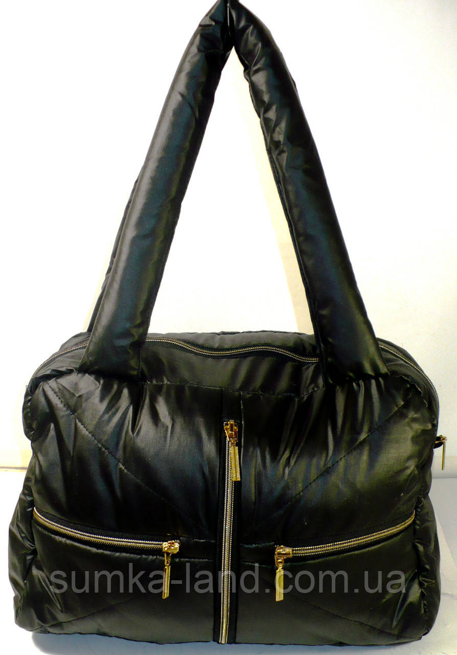 стеганная сумка дутик из плащевки купить
