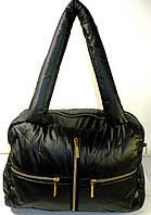 Дутые стеганные сумки под пуховик (ЧЕРНЫЙ)
