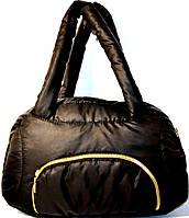 Дутые стеганные сумки под пуховик (ЧЕРНЫЙ - МАТОВЫЙ)