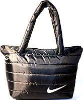 Дутые стеганные сумки под пуховик NIKE (ЧЕРНЫЙ)