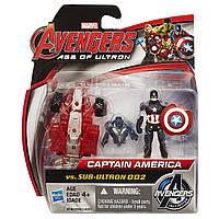 "Игровой набор Капитан Америка против Альтрона - Captain America vs Sub-Ultron , ""Age of Ultron"", Hasbro Avenge"