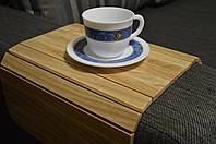 Деревянная накладка-столик на подлокотник дивана (лак) #2i2ua
