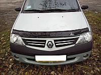 Дефлектор капота (мухобойка) Renault Logan 2005-2012