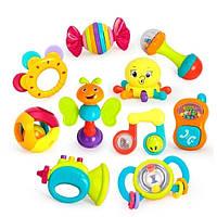 Большой набор игрушек-погремушек для самых маленьких Huile Toys