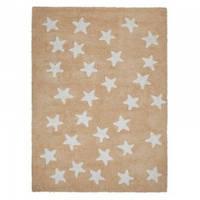 Хлопковый ковер Lorena Canals Nude Messy Stars White
