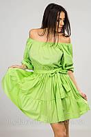 Платье однотон фонарик, фото 1