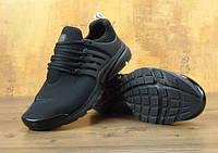 Мужские кроссовки в стиле NIKE Air Presto черные, фото 1