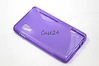 Чехол накладка для LG Optimus L5 II E450 / E460 фиолетовый, фото 1