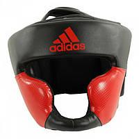 Боксерский шлем ADIDAS Response Standard Head Guard (черно-красный)