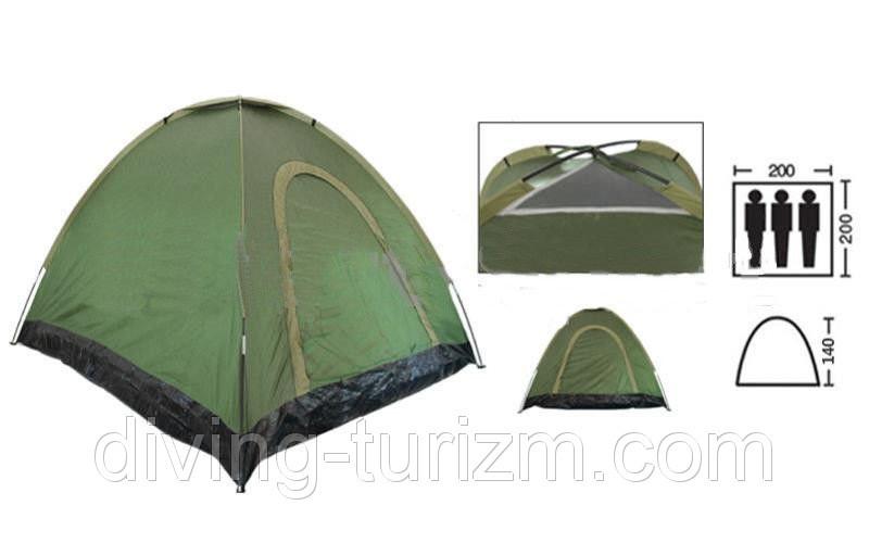 Палатка автомат трехместная. Распродажа! Оптом и в розницу