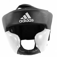 Боксерский шлем ADIDAS Response Standard Head Guard (черно-белый)