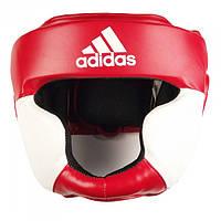 Боксерский шлем ADIDAS Response Standard Head Guard (красно-белый)
