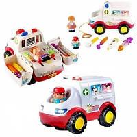 Развивающая машинка Скорая помощь Huile Toys 836