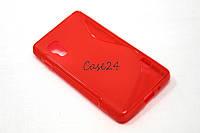 Чехол накладка для LG Optimus L5 II E450 / E460 красный, фото 1