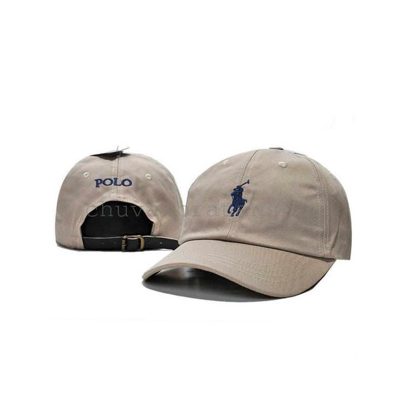 Бежевая кепка бейсболка Polo Ralph Lauren (кож. ремешок)
