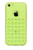 Зеленый силиконовый чехол для iPhone 5C